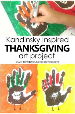 Kandinsky Inspired Thanksgiving Art Project for Kids #thanksgiving #art #kidart