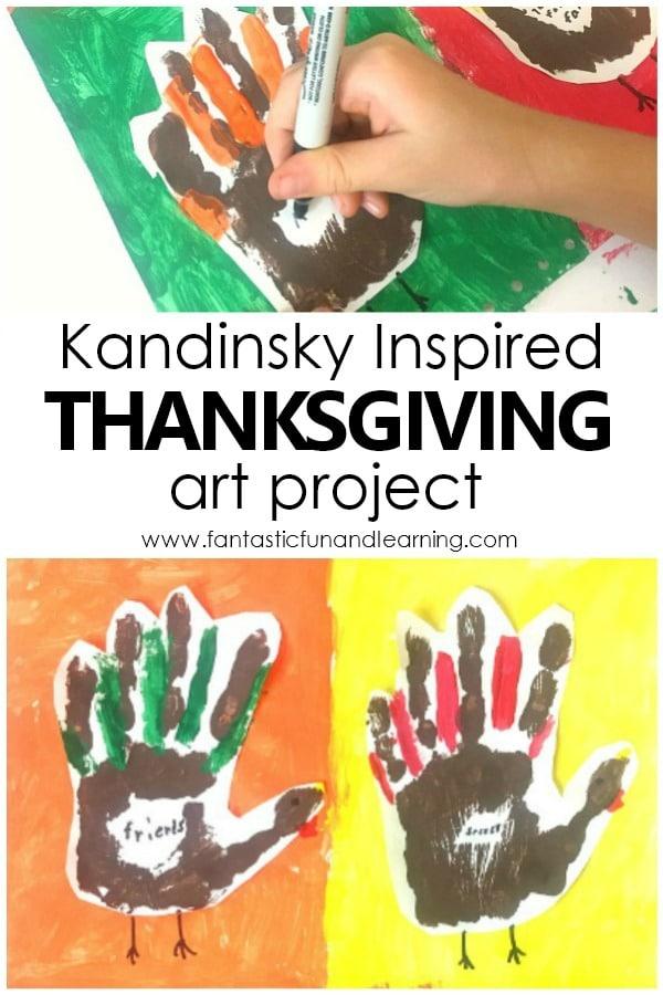 Kandinsky Inspired Thanksgiving Art Project for Kids #thanksgiving #art #kidart