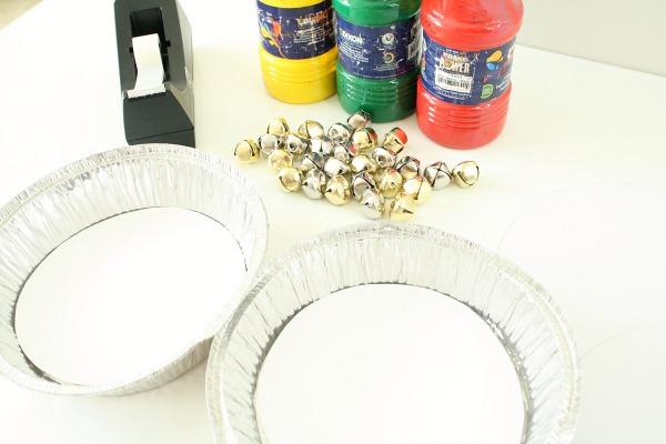 Materials for Jingle Bell Christmas Art