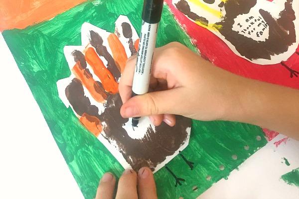 Thanksgiving Writing Kandinsky Art Project Step 5