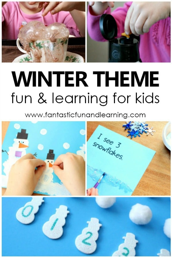 Winter Activities for Preschool and Kindergarten. January activities with free printable activity calendar. #preschool #kindergarten #winter