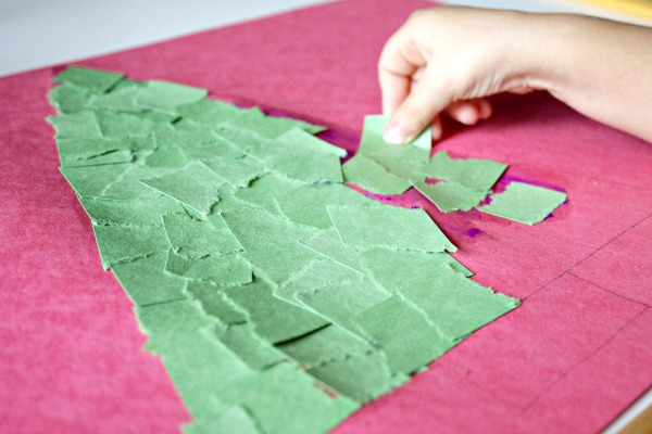 Torn Paper Christmas Crafts for Kids - Fantastic Fun & Learning