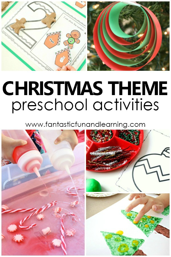 Christmas Theme Preschool Activities for Kids #christmas #preschool