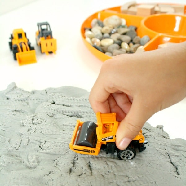 Construction Theme Sensory Play for Preschool