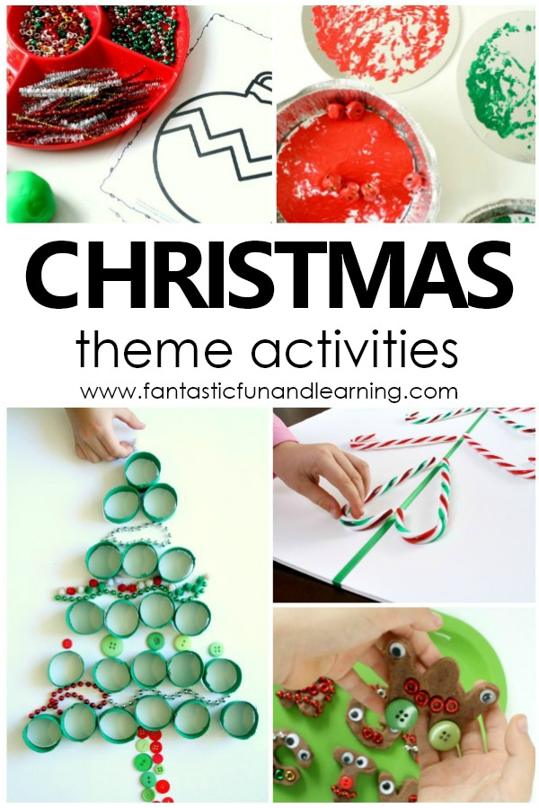 Fun Christmas Theme Activities for Kids #preschool #christmas #kids
