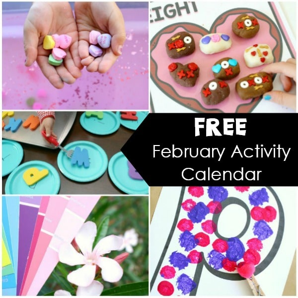 Monthly Activity Calendar Square-February