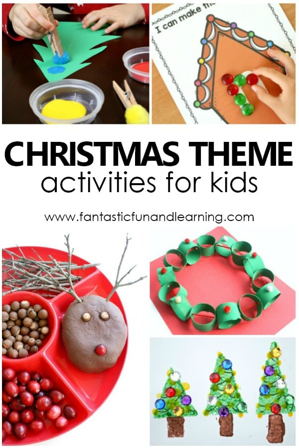 Preschool Christmas Theme Activities and Lesson Plans #christmas #prek #kindergarten