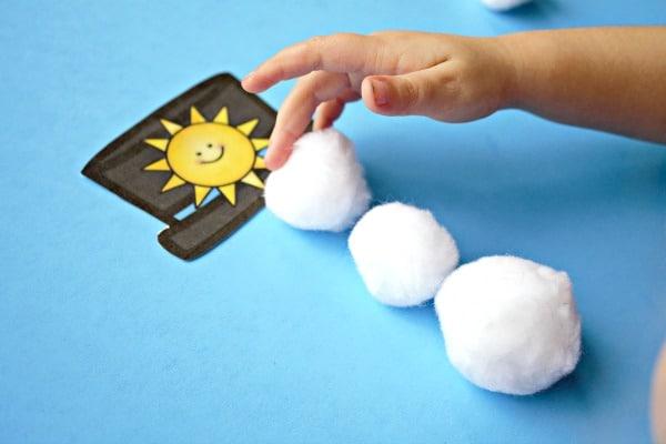 Winter Phonemic Awareness Activity for Preschool and Kindergarten