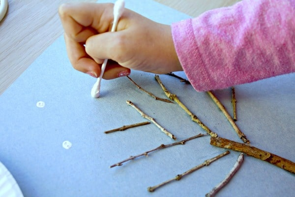 Preschool Winter Art Project-Tree Art