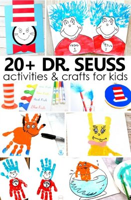 20+ Dr. Seuss Activities and Crafts for Kids. Ideas for your favorite Dr. Seuss books and Read Across America Day #preschool #kindergarten #drseuss
