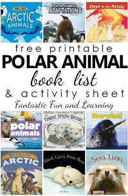 Best Polar Animal Books for Kids-Free printable list and polar animal activity sheet for reading response. #preschool #kindergarten #freeprintable #kidsbooks #booklist