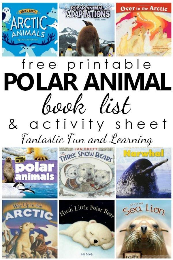 Best Polar Animal Books for Kids-Free printable list and polar animal activity sheet for reading response. #preschool #kindergarten #freeprintable #kidsbooks #booklist