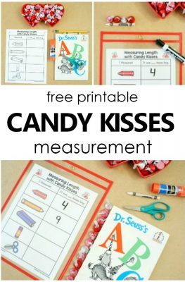 Free Printable Hershey Kisses Valentine's Day Nonstandard Measurement #preschool #kindergarten #valentinesday #math