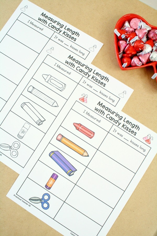 Free Printable Measurement Valentines Day Math Activity