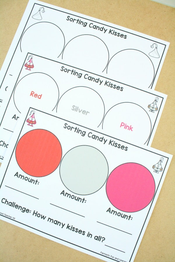 Free Printable Sorting Sheets for Valentine Math