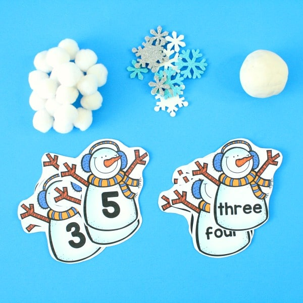 Free printable snowman counting actvity