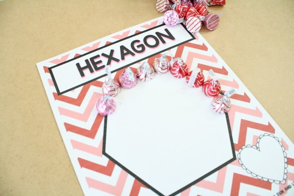 Making Shapes-Preschool Valentine's Day Activities