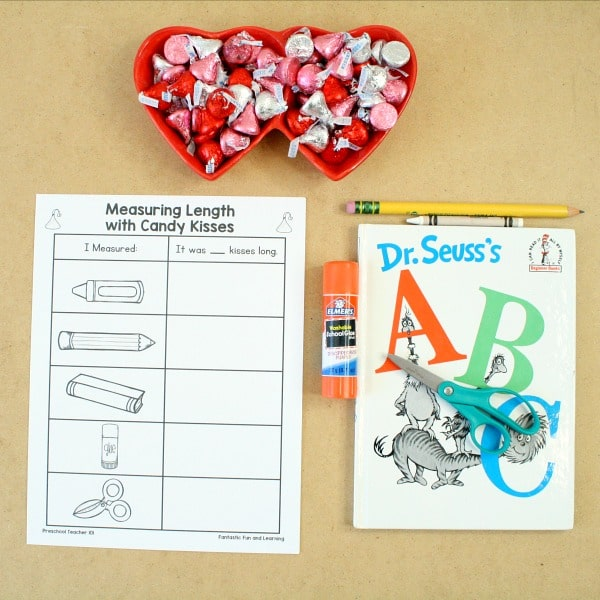 Materials for Valentine's Day Measurement-Kindergarten Valentine's Day Activities