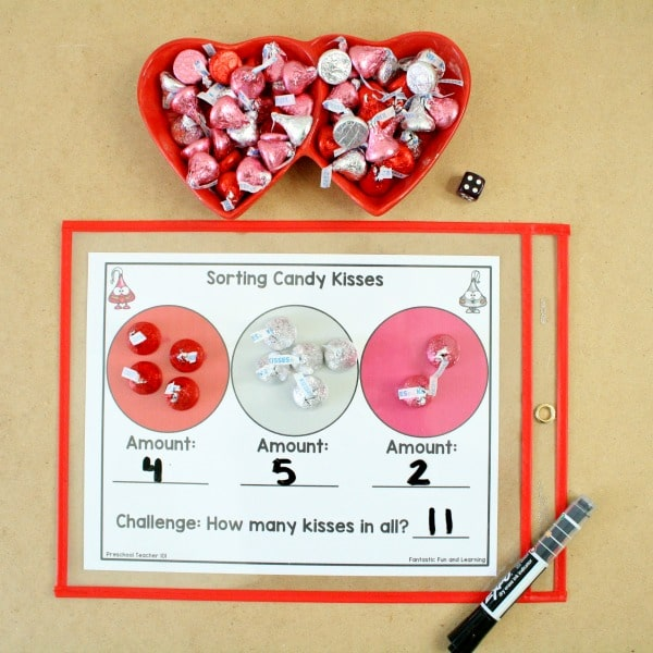 Valentine Math-Sorting Chocolate Kisses