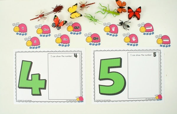 Bug Theme Counting Numbers Activity