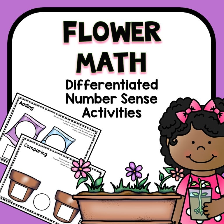 Flower Number Sense Spring Math Activities