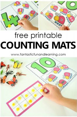 Free Printable Insect Counting Numbers Math Activity. Spring math for preschoolers and kindergarteners #spring #freebie #prek #kinder