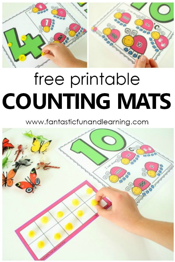 Insect Counting Numbers Math Activity - Fantastic Fun & Learning