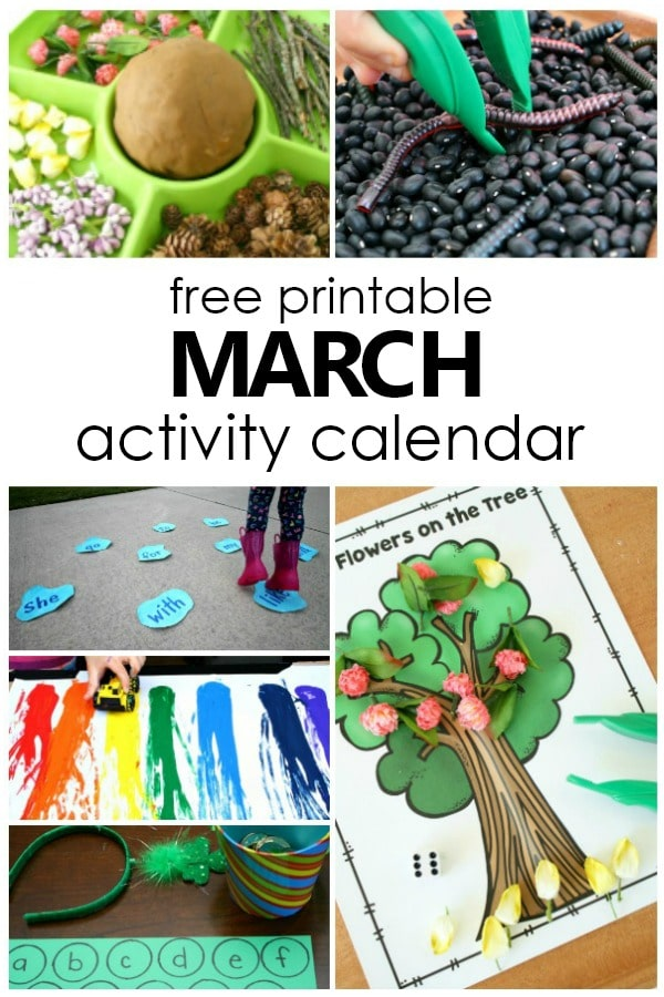 march preschool activities and fun things to do with kids