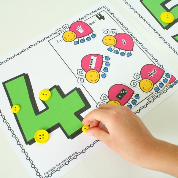Hands-on Math-Spring Counting Activity for Preschool and Kindergarten