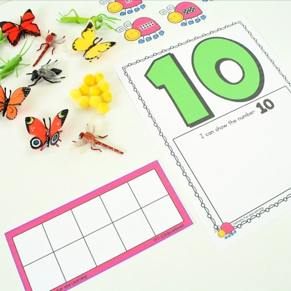 Materials for Insect Theme Counting Mats