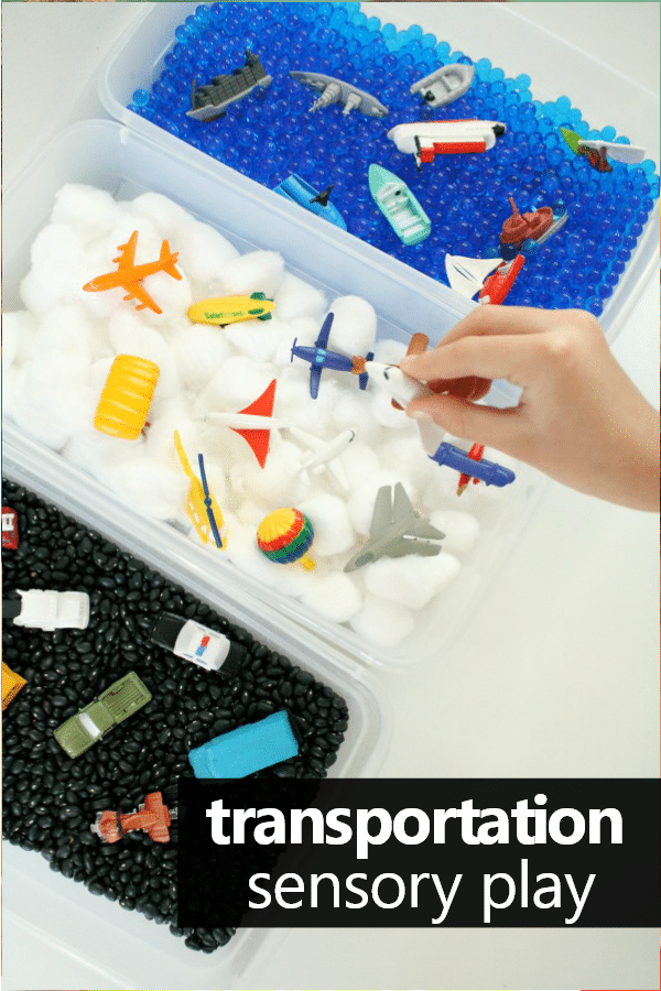 Preschool Transportation Acitivities. Vehicles Sensory Bin for Preschool and Toddler Sensory Play #preschool #sensory