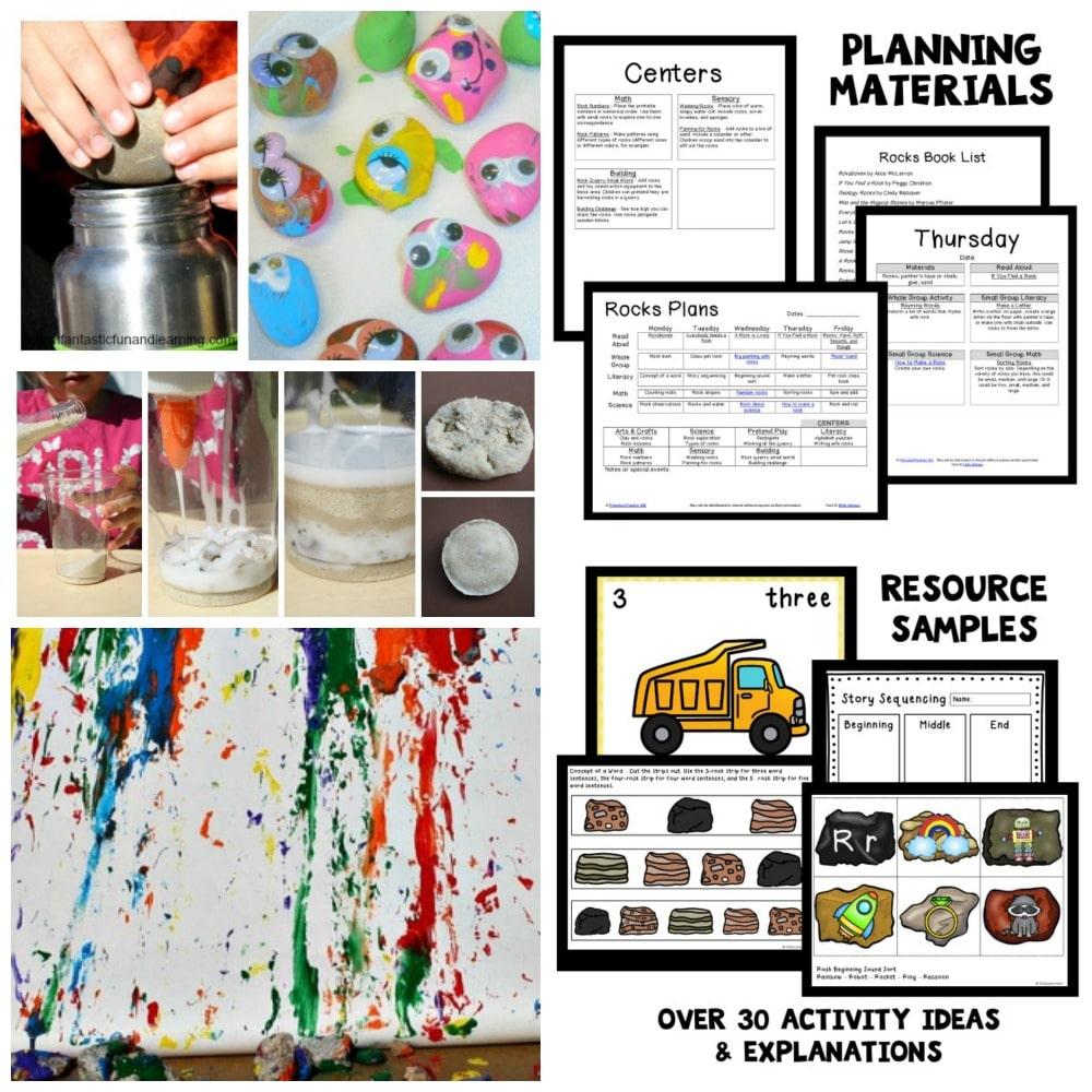 Preschool Rock Theme Lesson Plans