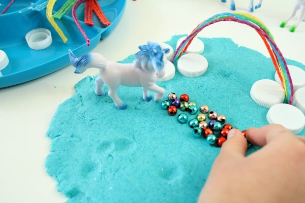 Unicorn Play Dough Activity for Kids