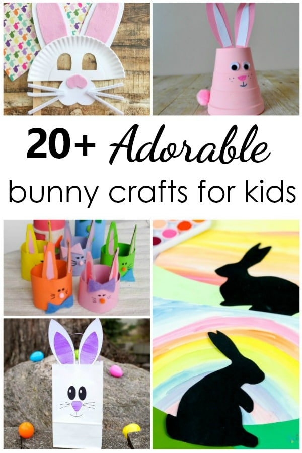 20 Easter Bunny Crafts. Rabbit Arts and Crafts Projects for Kids #preschool #kidart #kidscrafts #craftsforkids #easter