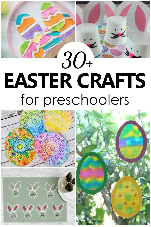 30 Easter Crafts for Kids #easter #kidscrafts #preschool