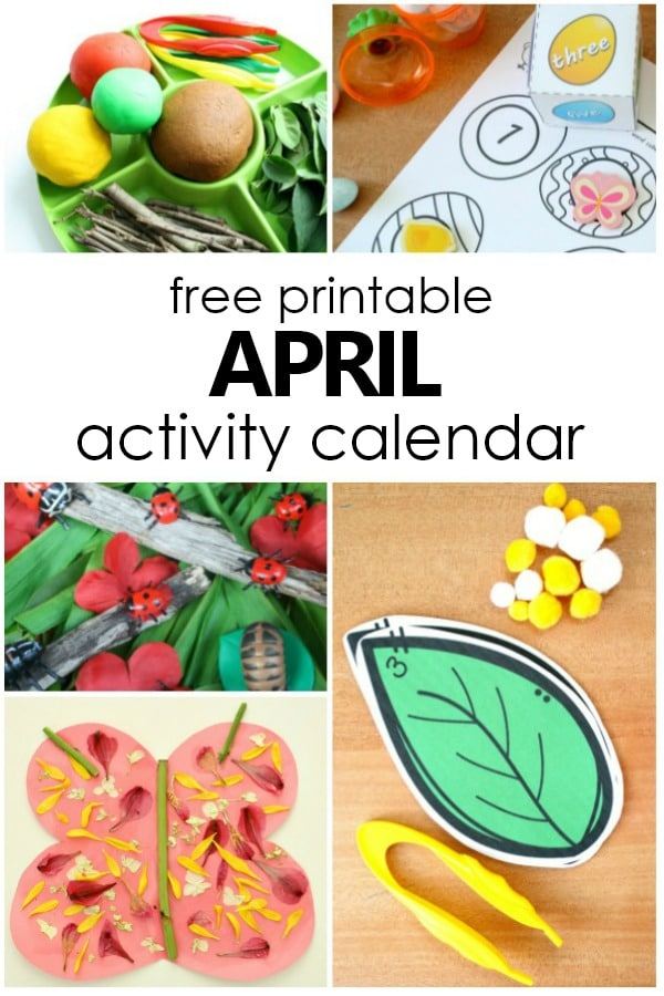 picture regarding Free Preschool Calendar Printables titled April Preschool Functions and Enjoyment Aspects in direction of Do With Youngsters