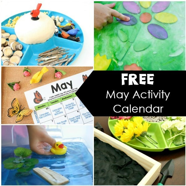 Free Printable Monthly Activity-May Activities for Kids. Things to do in May with kids