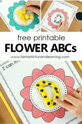 Free printable Flower ABC Mats. Spring them alphabet activity for preschool and kindergarten #freeprintable #preschool #spring