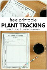 Free printable Plant Tracking Sheet. Gardening with kids seed growth chart #kindergarten #firstgrade #gardeningwithkids