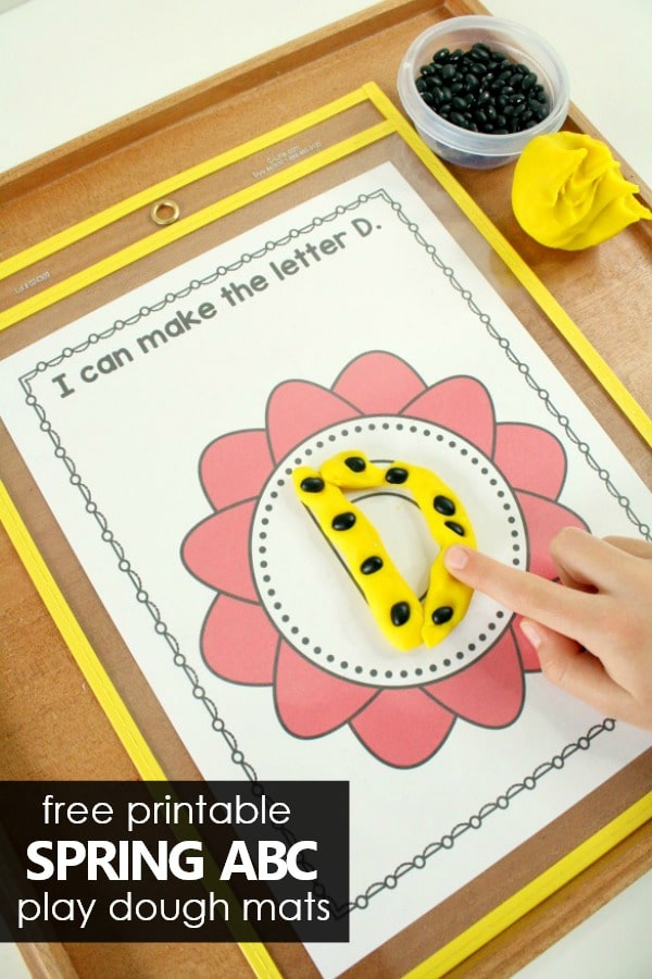 Free printable Spring ABC Play Dough Mats #alphabet #prek #kindergarten