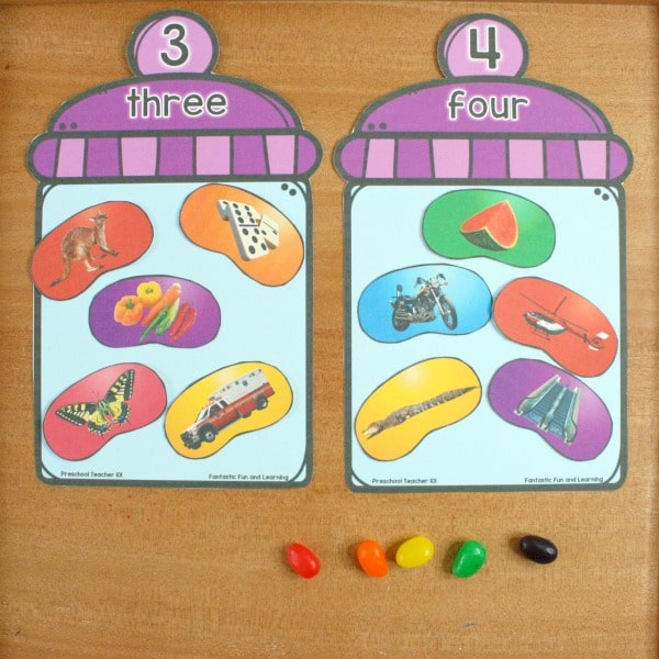 Jelly Bean Syllable Counting Freebie for Easter Literacy Centers
