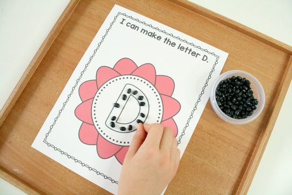 Making Letters for Spring Flower Theme
