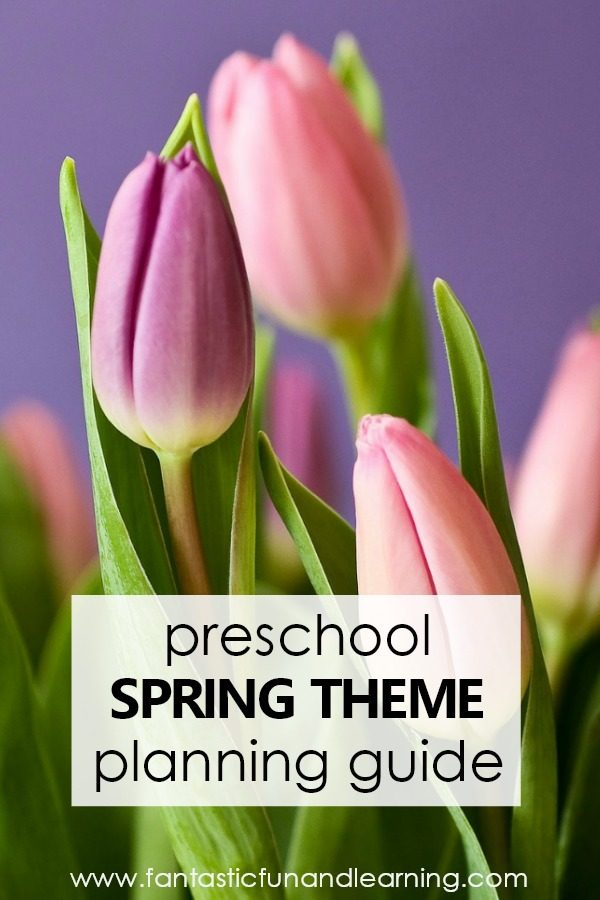 Preschool Spring Theme Activities Planning Guide. Free printables, teaching videos, spring books, and more for planning a preschool theme #preschool #spring #preschoolthemes