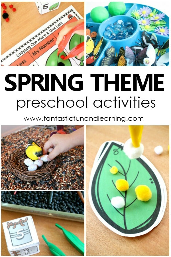 Spring Theme Preschool Activities-Lesson plans, spring videos, spring book list, and more for planning your spring theme #preschool #spring #lessonplans