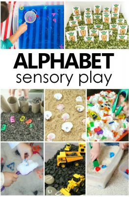 Alphabet Sensory Play Ideas. Preschool Alphabet Activities and ABC Sensory Bins. #alphabet #sensoryplay #sensorybins #preschool