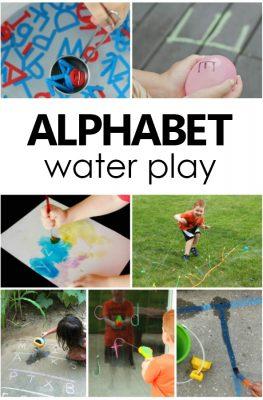 Alphabet Water Play. Toddler and Preschool Alphabet Activities. ABC water play. #preschool #toddler #alphabet
