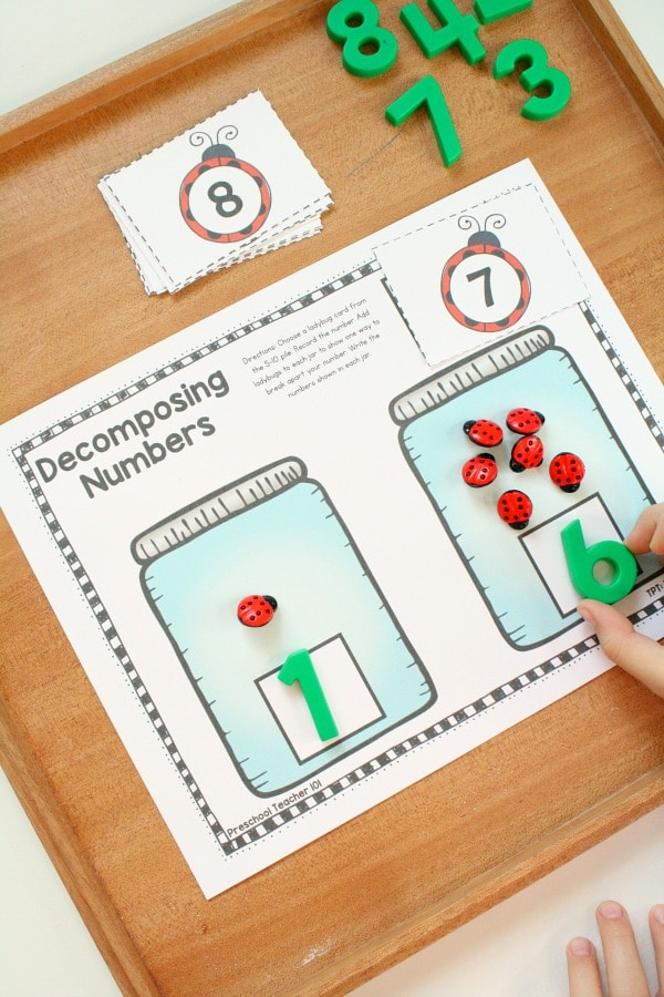Decomposing Numbers-Preschool and Kindergarten Number Sense Math Activities