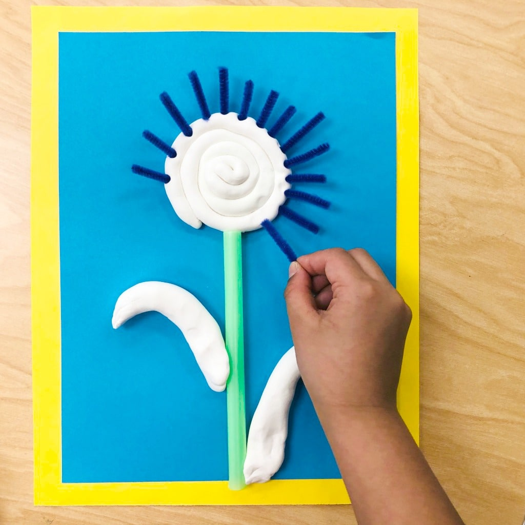 Fine Motor Creative Play Flower Art