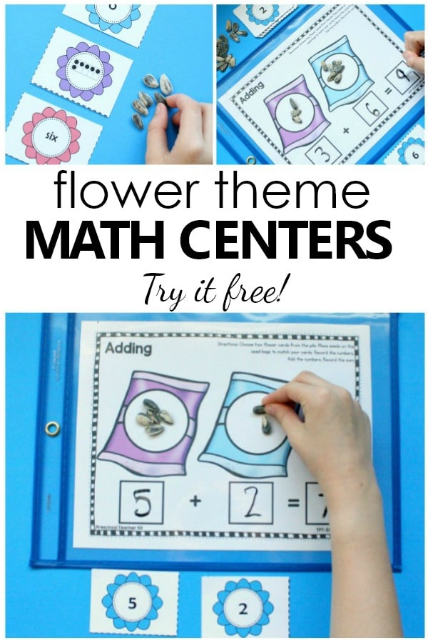 Flower Number Sense Math Activities Fantastic Fun Learning