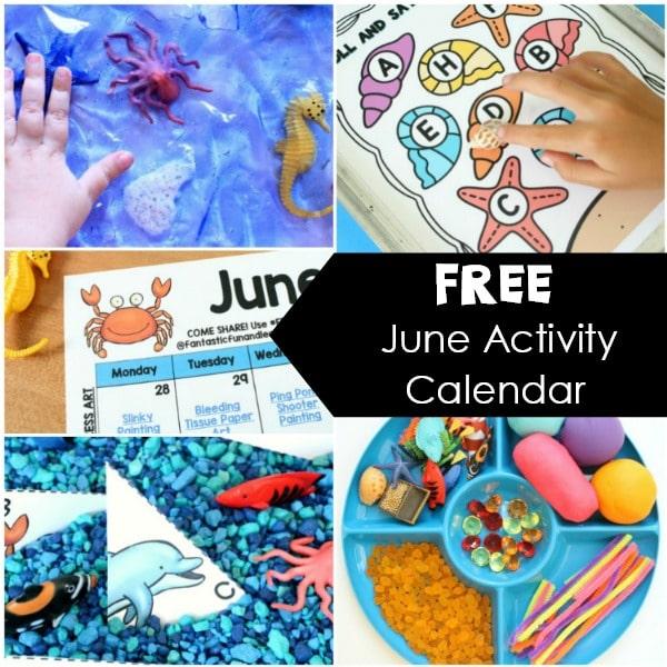Free June Activity Calendar for Kids